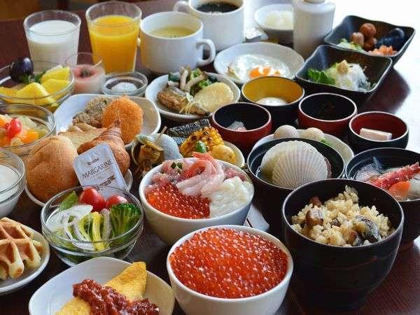 「天然温泉 幣舞の湯 ラビスタ釧路川 朝食」の画像検索結果