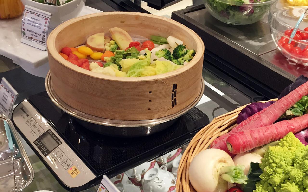 美味しい和洋ブッフェスタイルの朝食で元気に1日をスタート!