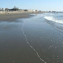 夏とは一転、のどかな春の海浜