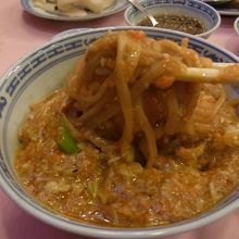 これ!これ!「蟹粉拌麺(蟹味噌かけ麺)」