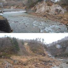 葛根田(かっこんだ)渓谷の崖や谷間からは湯気がモクモク。ワイルドな眺めの温泉が楽しめる滝観荘(りゅうかんそう)