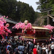 春到来を告げる日光二荒山神社の例祭