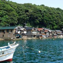 舟屋の風景に感動