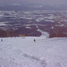 手強いスキー場です