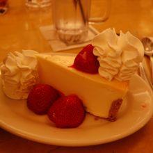 以前食べたストロベリーチーズケーキ
