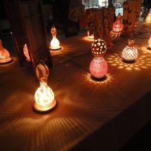 鹿島神社のひょうたんランプ