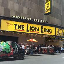 ライオンキングが上演されるミンスコフ劇場