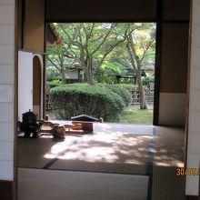 茶室の内部