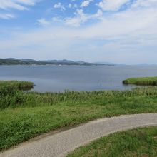ゴビウスからの昼の宍道湖