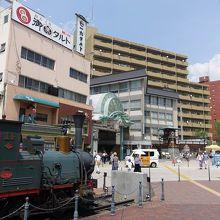 駅前の広場です。
