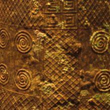 銅鐸の模様…綺麗です