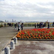 佐倉の山展望台風景、滑走路が近い。