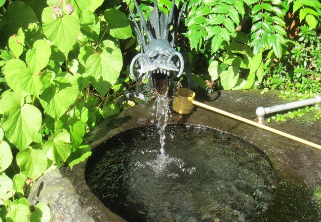 玉簾の湧き水