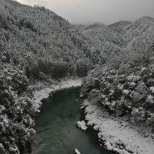 冬の保津峡