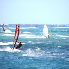 カイトやウインドサーフィンのメッカ