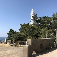 出雲日御碕灯台、外観。