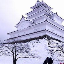 雪化粧した鶴ヶ城