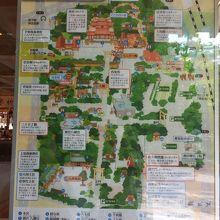 わかりやすい境内地図。