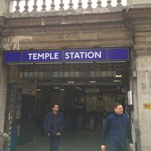 テンプル教会へのアクセスに便利