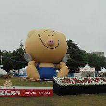 公式キャラクター「ぽぅ」の巨大バルーン