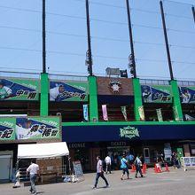 日本ハムファイターズの二軍球場。