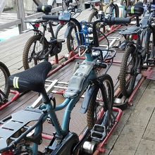 旧奥飛騨温泉駅を自転車で