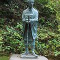 写真:芭蕉像 (中尊寺)