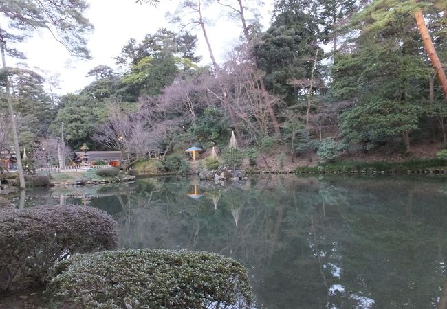 兼六園 瓢池