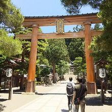 日曜日でもとても静かだった桜山八幡宮