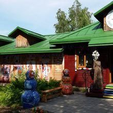 中世の雰囲気のロシアの田舎町