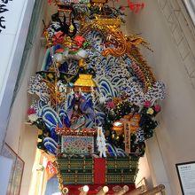 櫛田神社内の山笠