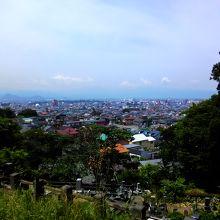 鶴ヶ城方向の景色