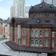 KITTEからの東京駅の眺め