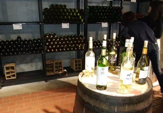 ぶどうの丘地下ワインカーヴ(貯蔵庫)