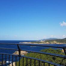 灯台の上からの風景