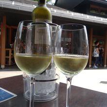ワインを飲みながらのんびり