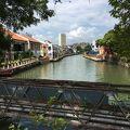 写真:マラッカ川