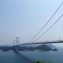 来島海峡を渡る大橋はすばらしい