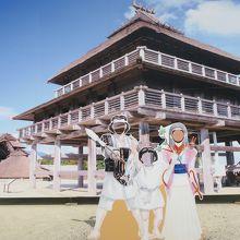 大きな祭殿ががあります