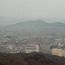 ここからも四国の眺望を堪能