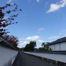 状態がよく保存されている城下町
