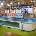 写真:函館朝市 駅二市場 活いか釣り広場