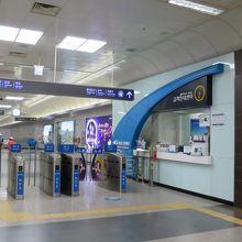 金浦空港の鉄道駅