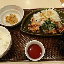若鶏の竜田揚げ和膳をいただきました