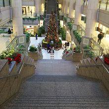 吹抜けのクリスマスツリー♪