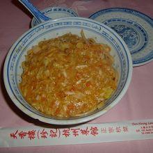 贅沢な上海蟹たっぷり入ってる麺!