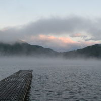 北信州の旅 −1 朝霧の木崎湖