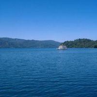 家族で北東北。青く輝る十和田湖