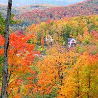 カナダ紅葉ドライブ旅行記?(2)紅葉真っ盛りのモン・トランブラン周遊