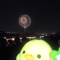淀川花火を楽しむ